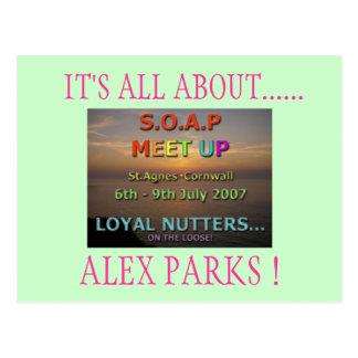 IT'S ALL ABOUT......, ALEX PARKS ! POSTCARD