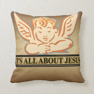 ITS ALL ABOUT JESUS THROW PILLOW
