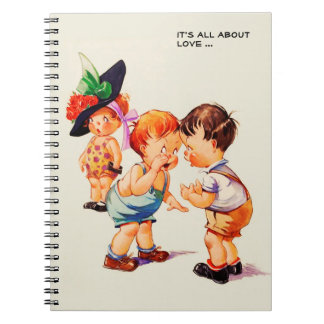It's all about love Valentine's Day Gift Notebooks