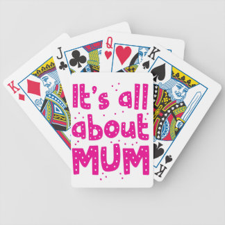 its all about mum bicycle playing cards