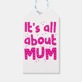 its all about mum gift tags