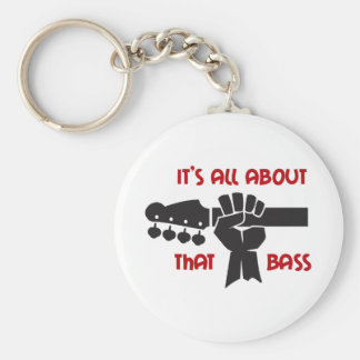 It's All About That Bass Basic Round Button Keychain
