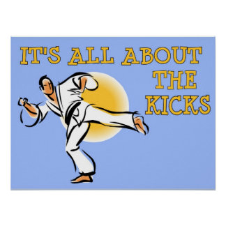 It's All About the Kicks Martial Arts Poster
