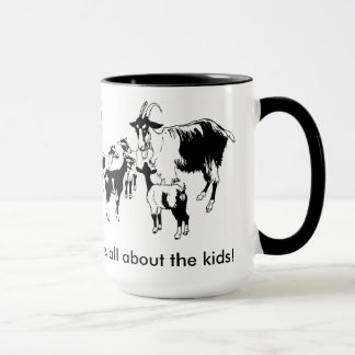It's all about the kids! Goat with kids mug 4-H