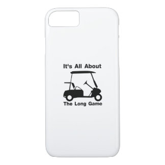 It's All About The Long Game Funny Golf Gift iPhone 8/7 Case