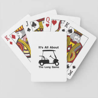 It's All About The Long Game Funny Golf Gift Playing Cards