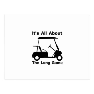 It's All About The Long Game Funny Golf Gift Postcard