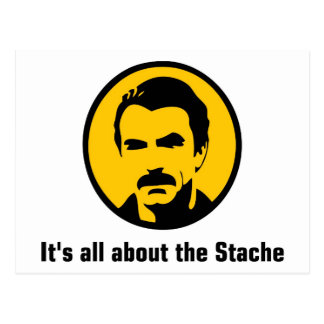 It's All About the Stache Postcard