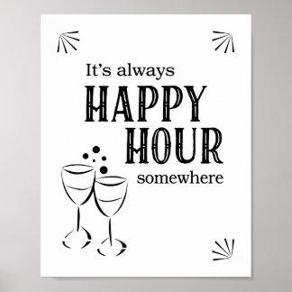 It's Always Happy Hour Somewhere Bar Sign