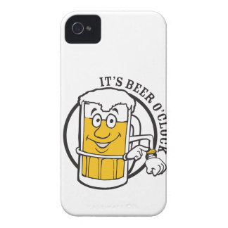 It's always time for Beer- Beer O'clock iPhone 4 Cases