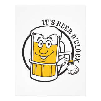 It's always time for Beer- Beer O'clock Letterhead
