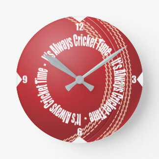 It's Always Time For Cricket Wall Clock