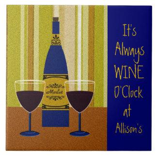 It's Always Wine O'Clock at Allison's Ceramic Tiles
