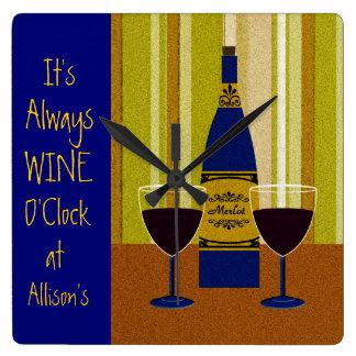 It's Always Wine O'Clock at Allison's Clocks
