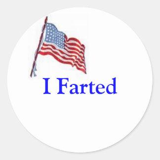 It's an American duty Round Sticker