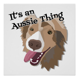 It's an Aussie Thing Poster