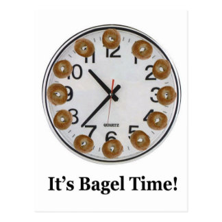 It's Bagel Time! Postcard