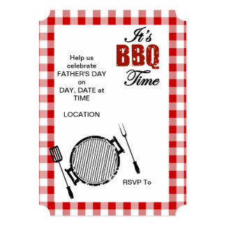 It's BBQ Time! Father's Day Party Invitations