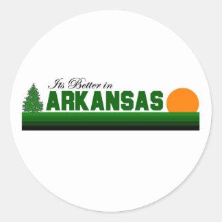 Its Better in Arkansas Classic Round Sticker