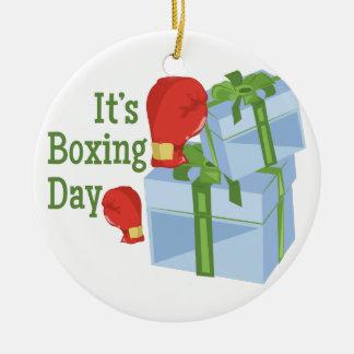 Its Boxing Day Ceramic Ornament