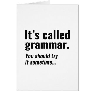 It's Called Grammar Card