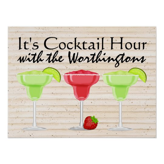 It's Cocktail Hour Poster