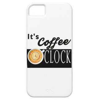 it's coffee o'clock text clock cup hipster message iPhone 5 case