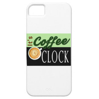 it's coffee o'clock text clock cup hipster message iPhone 5 cover
