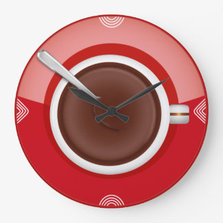 It's Coffee Time Round Wall Clock