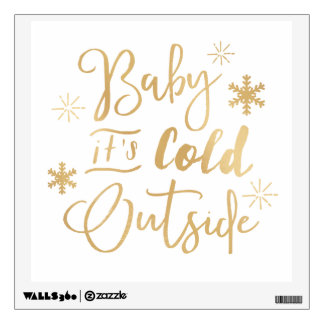 Its Cold Outside Holiday Decal