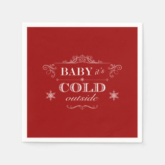 It's Cold Outside Winter Celebration Paper Napkin