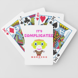 Its Complicated-Cute Monkey-Morocko Bicycle Playing Cards