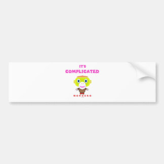 Its Complicated-Cute Monkey-Morocko Bumper Sticker