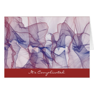 It's Complicated Love Greeting Card