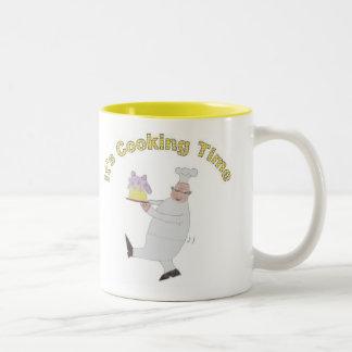 It's Cooking Time Two-Tone Coffee Mug