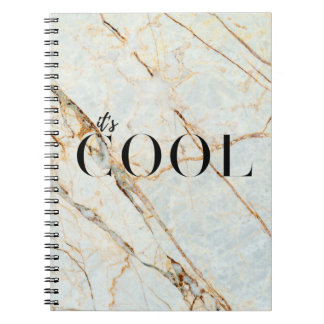 It's Cool Rose Gold Marble Notebook