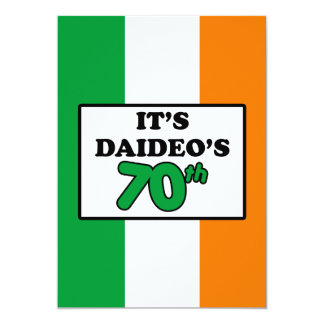 It's Daideo's 70th Birthday Irish Flag Invite