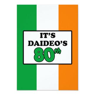 It's Daideo's 80th Birthday Irish Flag Invite