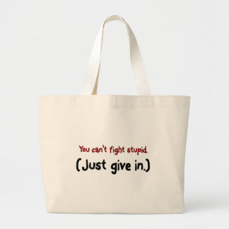 It's easier to just give in to the stupid large tote bag