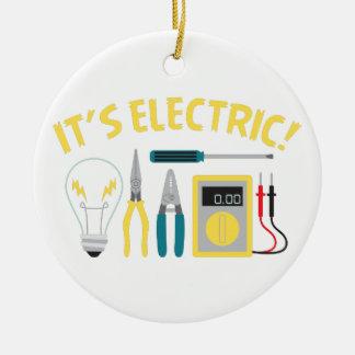It's Electric Ceramic Ornament