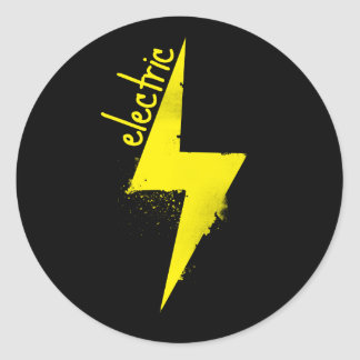 It's Electric! Classic Round Sticker