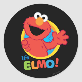 It's Elmo Classic Round Sticker