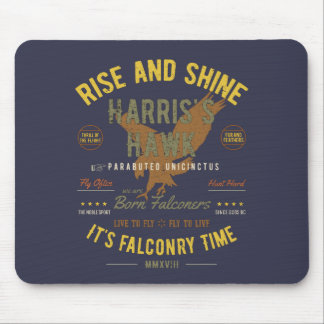 It's Falconry Time! Harris's Hawk Mouse Pad