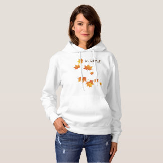 It's Fall Y'all Hoodie with Falling Leaves.