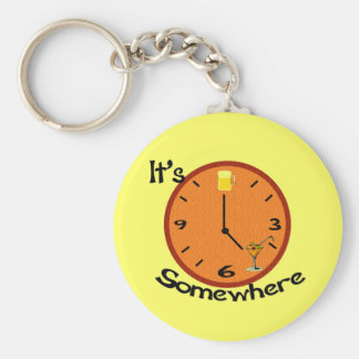 Its Five O'clock Somewhere Keychain