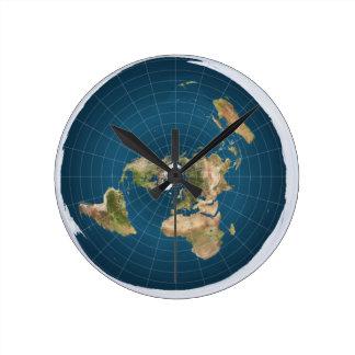 It's Flat.  No, Really. Round Clock