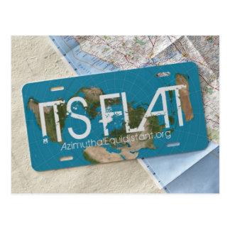 ITS FLAT Postcard | AzimuthalEquidistant.org