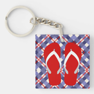 It's Flip Flop Season Somewhere Double-Sided Square Acrylic Keychain