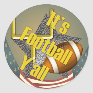 It's Football Y'all Round Sticker