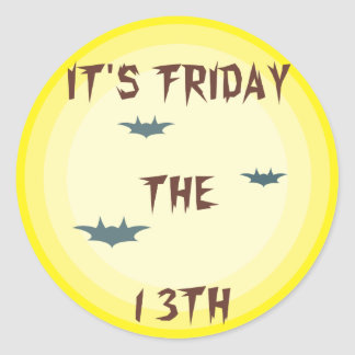 IT'S FRIDAY THE 13TH CLASSIC ROUND STICKER